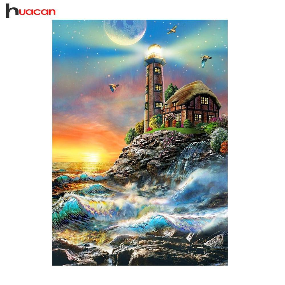 5D Diamond Painting Lighthouse by the sea kit
