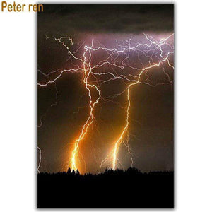 5D Diamond Painting Lightning Strikes Kit
