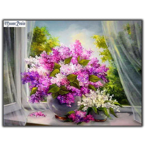 5D Diamond Painting Lilac Arrangement Kit