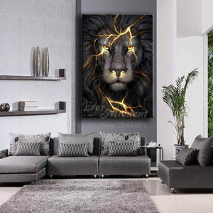 5D Diamond Painting Lion Kit