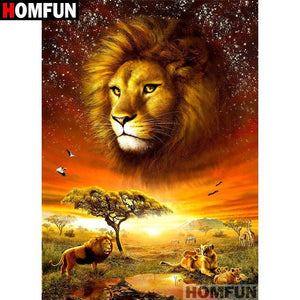 5D Diamond Painting Lions on the Safari Kit