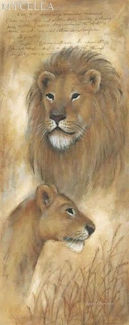 5D Diamond Painting Lions Together Kit