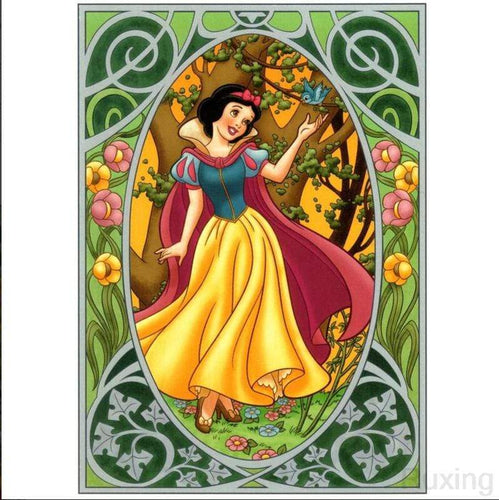 5D Diamond Painting Little Blue Bird Snow White Kit