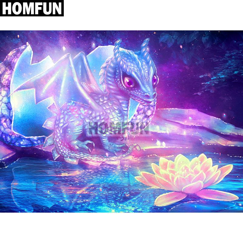 5D Diamond Painting Little Dragon Kit
