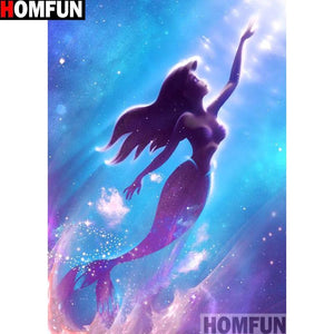 5D Diamond Painting Little Mermaid Reaching for the Light Kit
