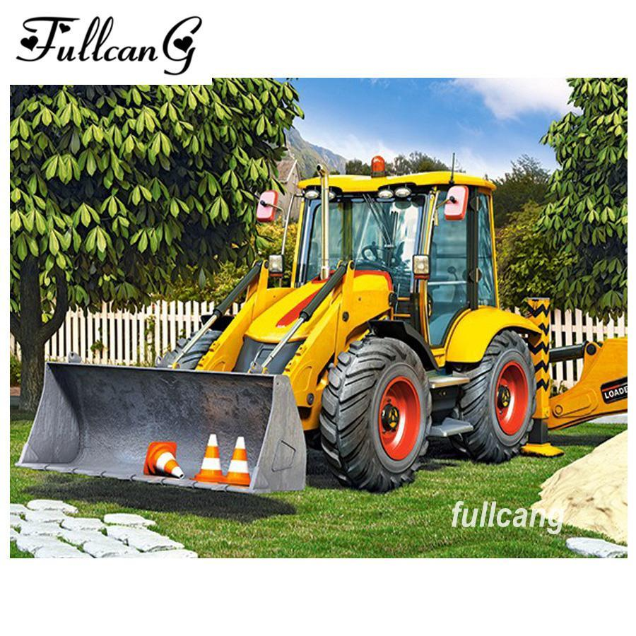 5D Diamond Painting Loader Tractor Kit