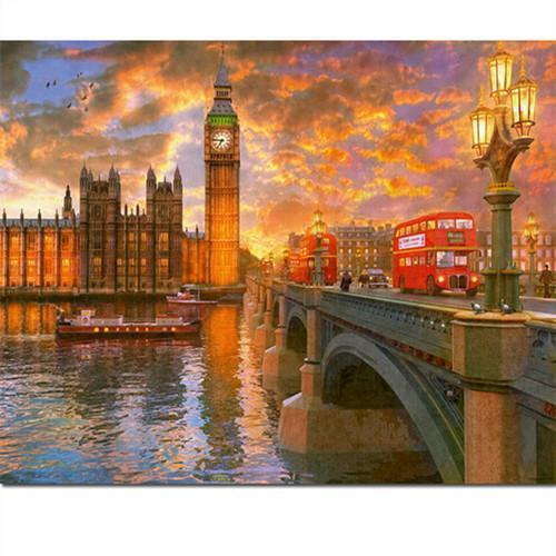 5D Diamond Painting London Big Ben Tower Kit