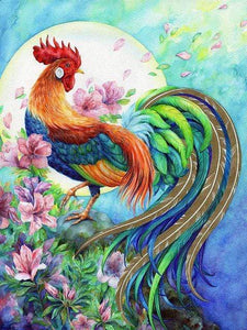 5D Diamond Painting Long Tail Rooster Kit