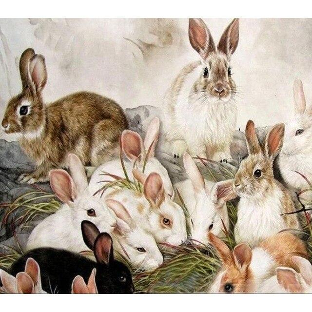 5D Diamond Painting Lots of Bunnies Kit