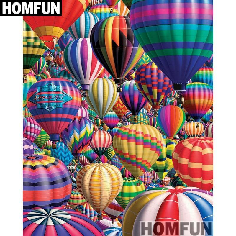 5D Diamond Painting Lots of Hot Air Balloons Kit
