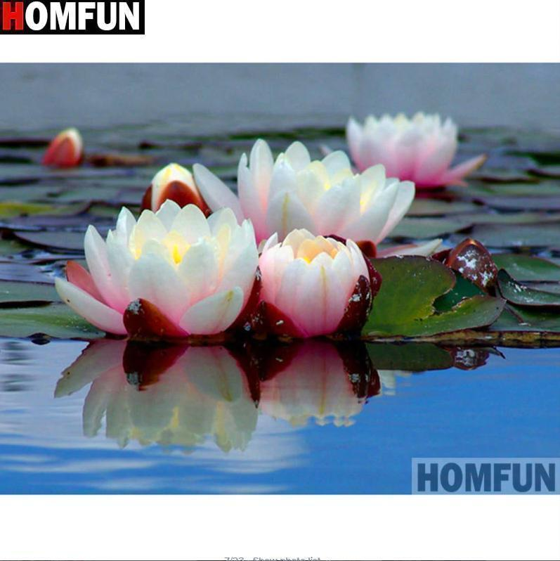 5D Diamond Painting Lotus in the Water Kit