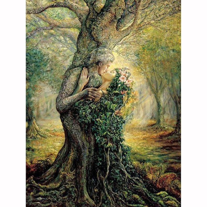 5D Diamond Painting Lovers in the Tree Kit