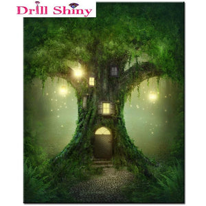 5D Diamond Painting Magical Tree House Kit