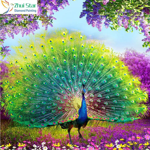 5D Diamond Painting Majestic Peacock Kit