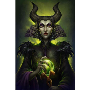 5D Diamond Painting Maleficent Green Glow Kit