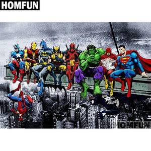 5D Diamond Painting Marvel Super Hero Hanging Out Kit