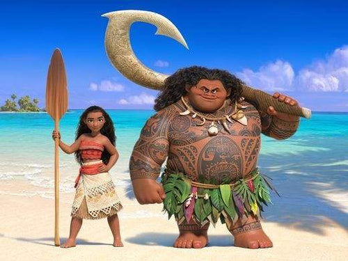 5D Diamond Painting Maui and Moana Kit
