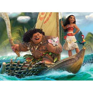 5D Diamond Painting Maui & Moana Wayfinding Kit