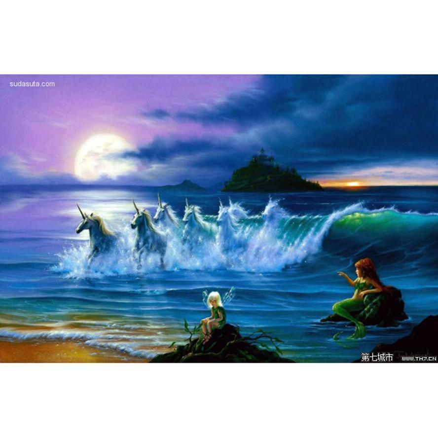 5D Diamond Painting Mermaids and Unicorns Kit