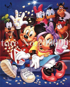 5D Diamond Painting Mickey and Friends Fun at the Movies Kit