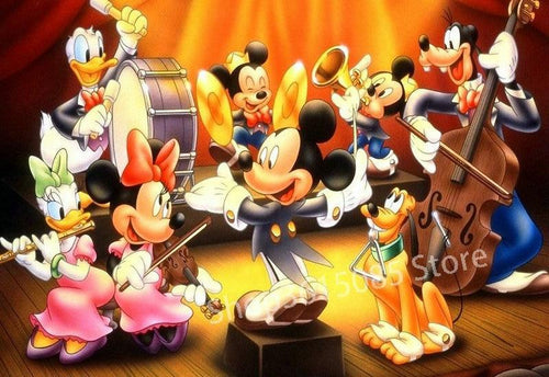 5D Diamond Painting Mickey and Friends Making Music Kit