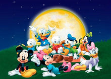 5D Diamond Painting Mickey and Friends Moon Kit