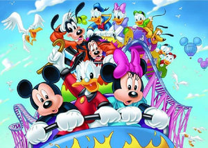5D Diamond Painting Mickey and Friends Roller Coaster Ride