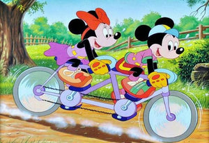 5D Diamond Painting Mickey and Minnie Bicycle for Two Kit