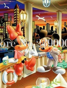 5D Diamond Painting Mickey and Minnie Date Night Kit