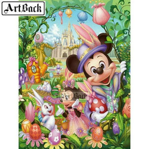 5D Diamond Painting Mickey and Minnie Easter Kit