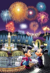 5D Diamond Painting Mickey and Minnie Fireworks Fountain Kit