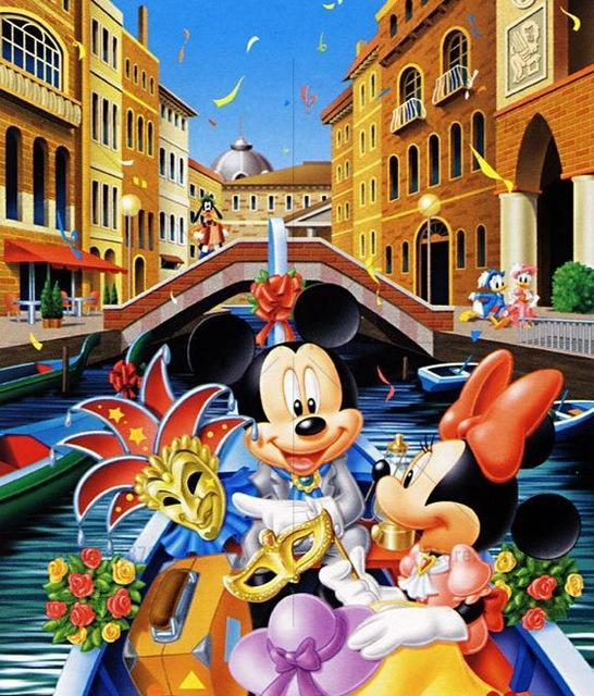 5D Diamond Painting Mickey and Minnie Mouse Boat Ride Kit