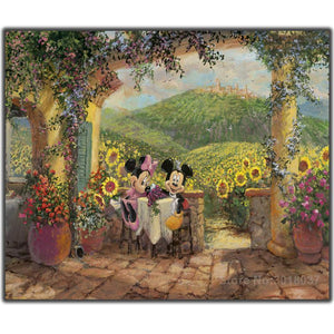 5D Diamond Painting Mickey and Minnie Mouse Vineyards Kit