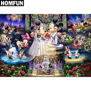 5D Diamond Painting Mickey and Minnie Together Kit