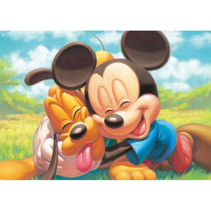 5D Diamond Painting Mickey and Pluto Best Friends Kit