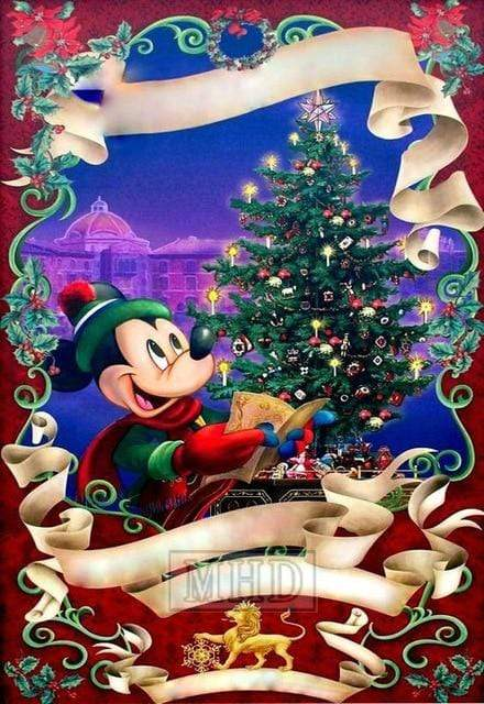 5D Diamond Painting Mickey Christmas Carols Kit