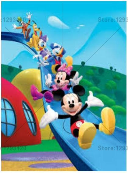 5D Diamond Painting Mickey Clubhouse Slide Fun Kit
