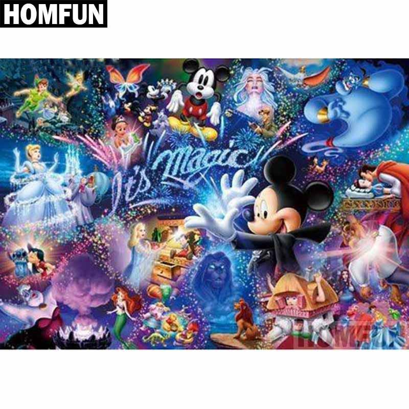 5D Diamond Painting Mickey It's Magic Collage Kit