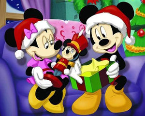 5D Diamond Painting Mickey & Minnie Christmas Gifts Kit