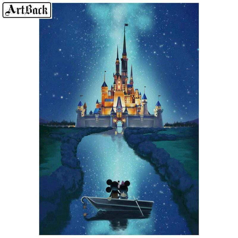 5D Diamond Painting Mickey & Minnie Row Boat Kit