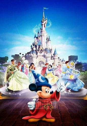 5D Diamond Painting Mickey Mouse and the Princesses Kit