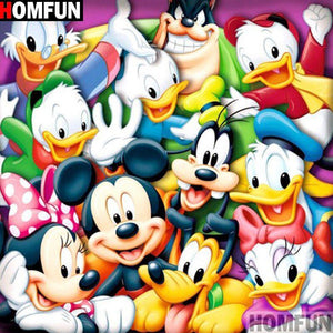 5D Diamond Painting Mickey Mouse and the Whole Gang Kit
