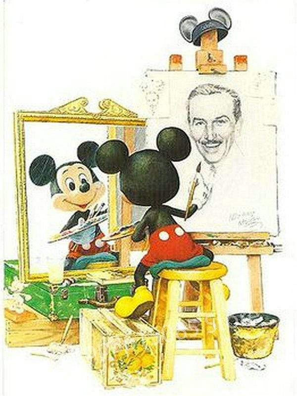 5D Diamond Painting Mickey Mouse and Walt Disney Drawing Kit