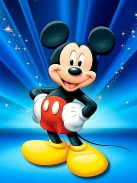 5D Diamond Painting Mickey Mouse Blue Star Kit