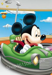 5D Diamond Painting Mickey Mouse Bumper Car Kit