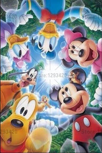 5D Diamond Painting Mickey Mouse Circle of Friends Kit