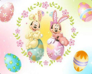 5D Diamond Painting Mickey Mouse Easter Bunny Kit