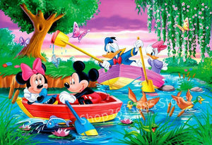 5D Diamond Painting Mickey Mouse Romantic Boat Ride Kit