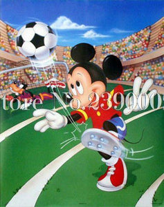 5D Diamond Painting Mickey Soccer Star Kit