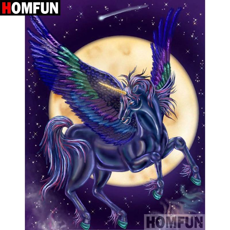 5D Diamond Painting Midnight Pegasus Kit